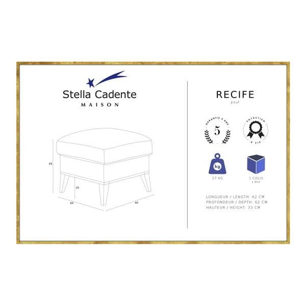 Antracitově šedá podnožka Stella Cadente Maison Maison Recipe