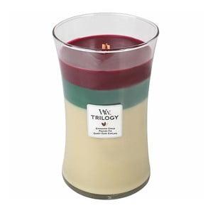 Vonná svíčka WoodWick Trilogy Skořice, 130 hodin hoření