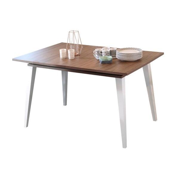 Tmavě hnědý rozkládací jídelní stůl Symbiosis Prism