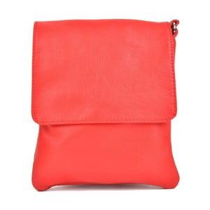 Červená kožená kabelka Sofia Cardoni Messa