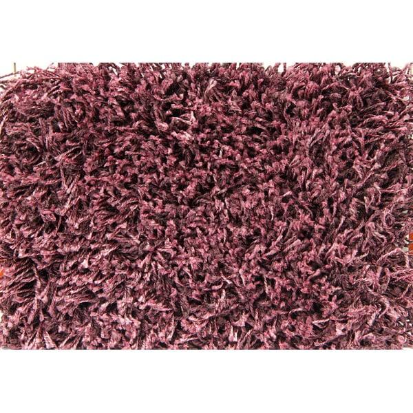 Koberec Super Shaggy 160x160 cm s 5 cm dlouhým vlasem, fialový