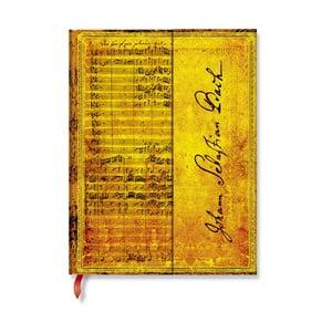 Linkovaný zápisník s tvrdou vazbou Paperblanks Bach, 18 x 23 cm