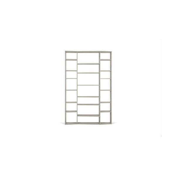 Valsa szürke könyvespolc, 224 x 144 cm - TemaHome