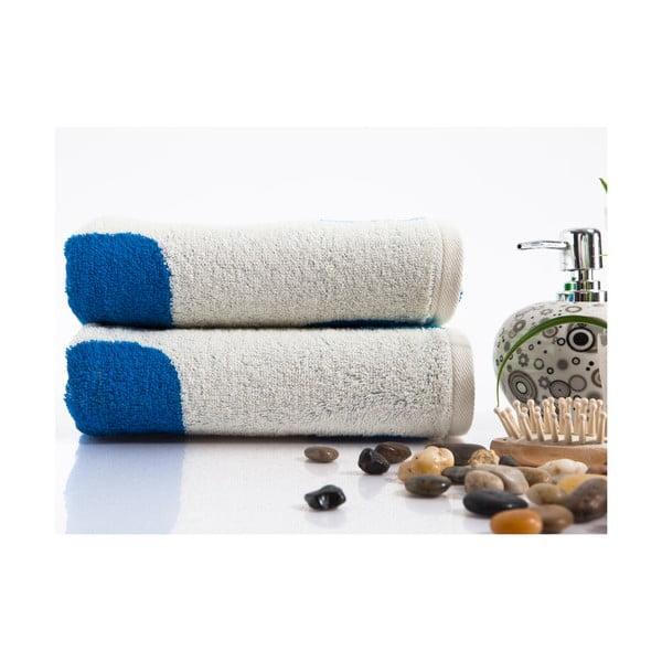 Sada 2 ručníků Alba Blue, 50x90 cm