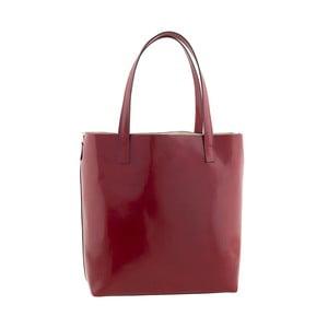 Kožená kabelka Italian Simplicity, červená