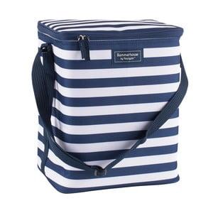 Tmavě modrá pruhovaná rodinná chladicí taška Navigate