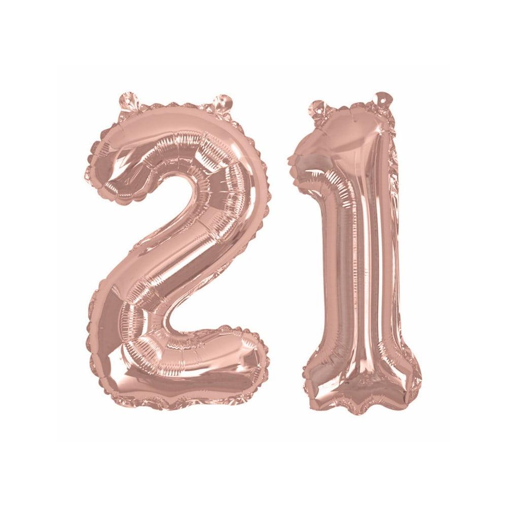 Balónek s číslem 21 Neviti Rose Gold