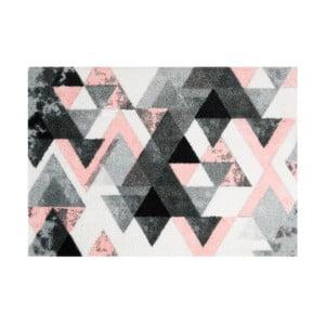 Preș Mint Rugs StateMat Triangle, 50 x 70 cm, gri - roz
