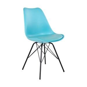 Sada 2 světle modrých jídelních židlí s podsedákem House Nordic