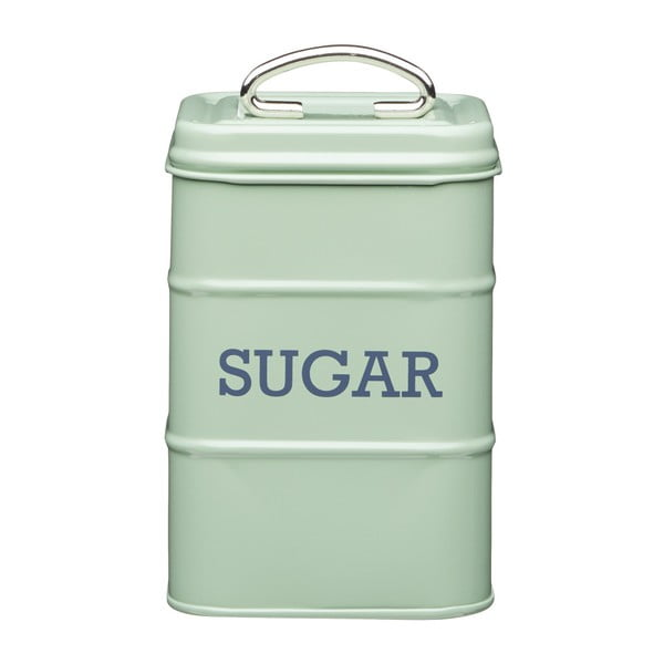 Zelená plechová dóza na cukor Kitchen Craft Nostalgia