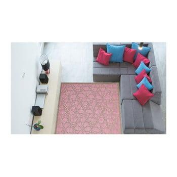 Covor foarte rezistent Floorita Fiore, 135 x 190 cm, roz de la Floorita