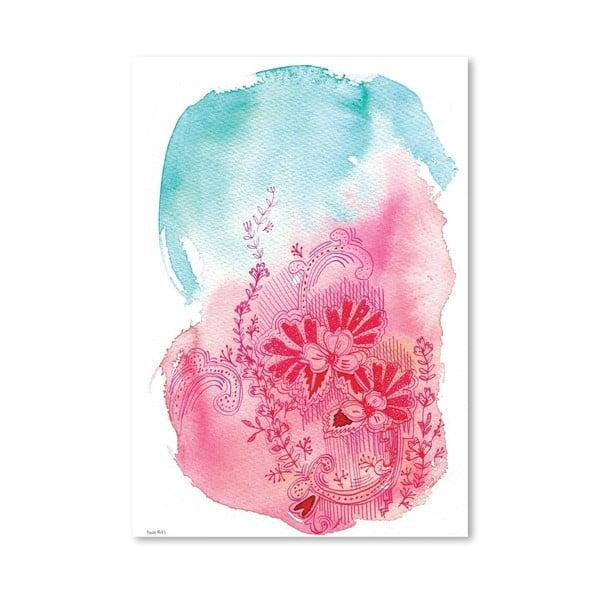 Plakát Flowers Pink, 30x42 cm