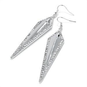 Náušnice Crystal Silver Triangle