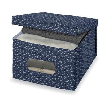 Cutie pentru depozitare Domopak Metrik Large, 50x39cm, albastru închis de la Domopak