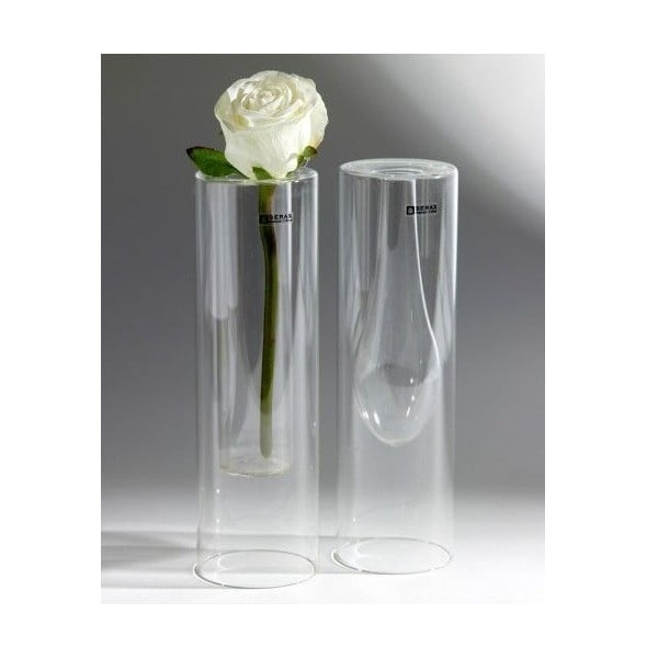 Sada 2 skleněných váz Double