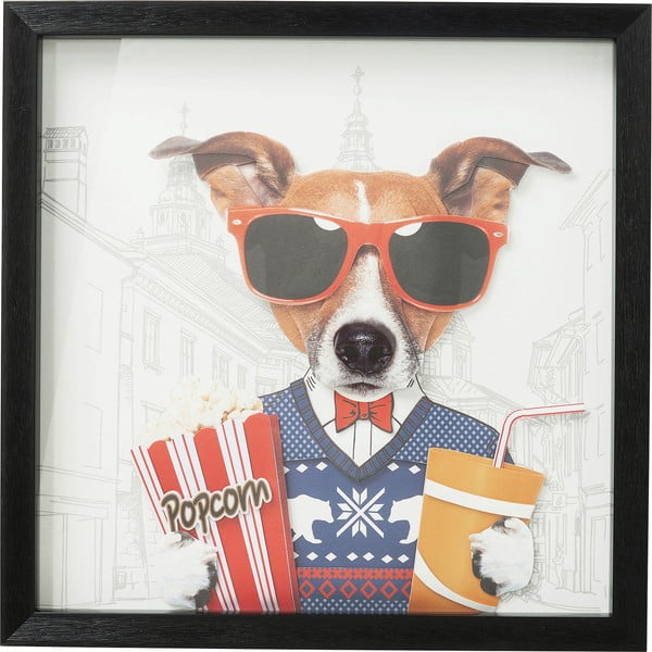 Tablou Kare Design Cinema Dog, 50 x 50 cm