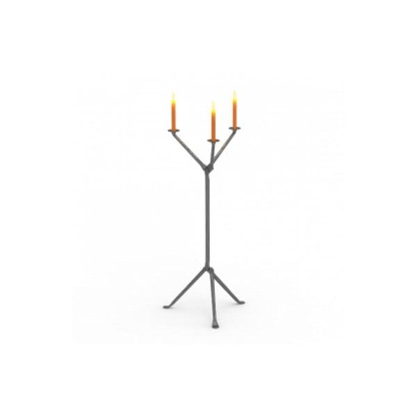 Sfeșnic pentru 3 lumânări Magis Officina, înălțime 98 cm, gri antracit