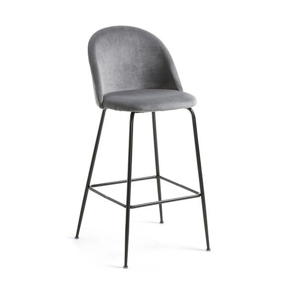 Šedá barová židle La Forma Mystere, výška 108 cm