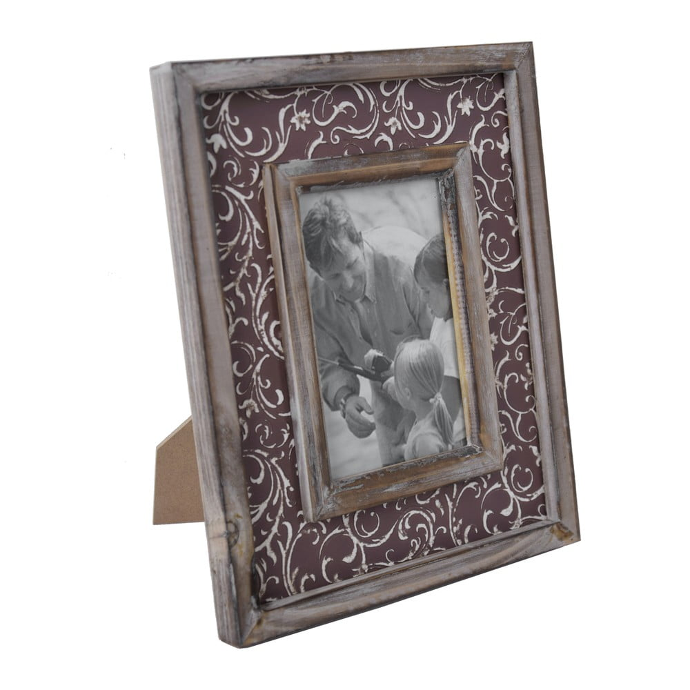 Fotorámeček s hnědým okrajem Ego Dekor Vintage,25x27cm
