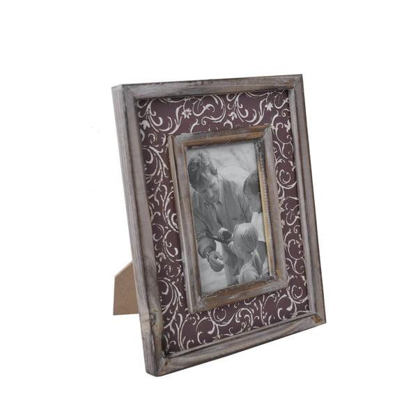 Vintage képkeret barna szegéllyel, 25 x 27 cm - Ego Dekor