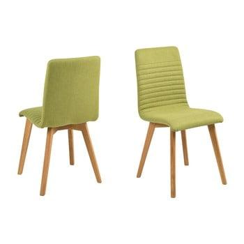Set 2 scaune dining Actona Arosa, verde
