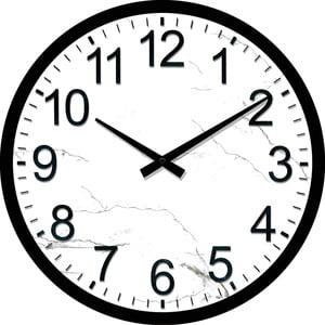 Skleněné hodiny Nádraží, 30 cm