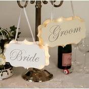 Svatební dekorace s LED světly Groom Chair