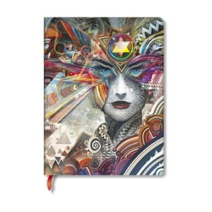 Caiet cu copertă tare Paperblanks Revolution, 18 x 23 cm