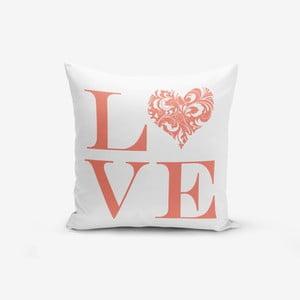 Povlak na polštář s příměsí bavlny Minimalist Cushion Covers Love Flower,45x45cm