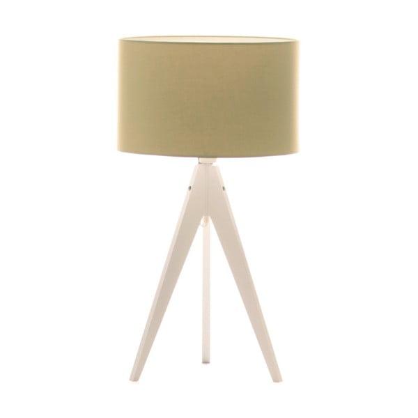 Zelená stolní lampa Artist, bílá lakovaná bříza, Ø 33 cm