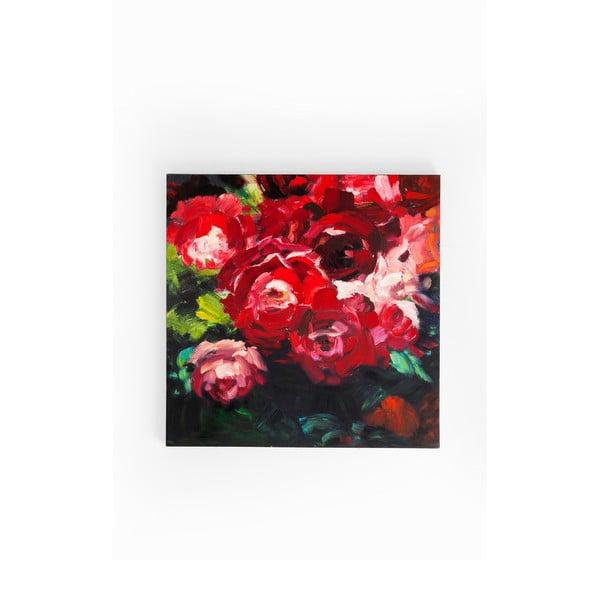 Obraz Kare Design Roses, 100 x 100 cm