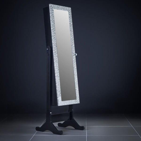 Uzamykatelné stojací zrcadlo se šperkovnicí Adonna, leopardí
