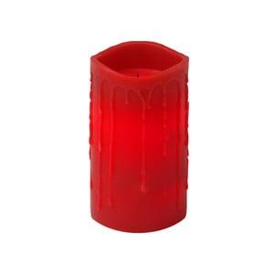 Červená LED svíčka s kapkami Best Season, 15 cm