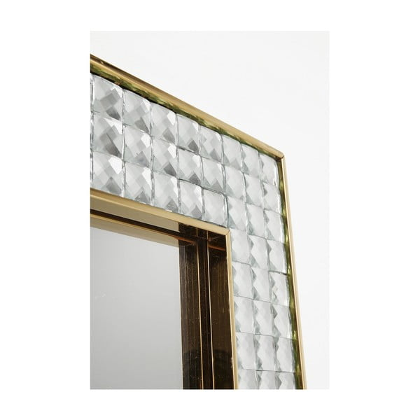 Nástěnné zrcadlo Kare Design Crystals Gold, 180x80cm