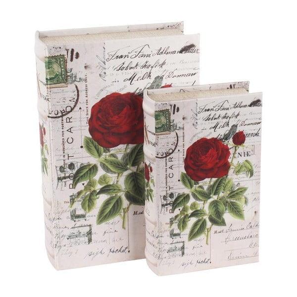 Sada dvou krabiček ve tvaru knih