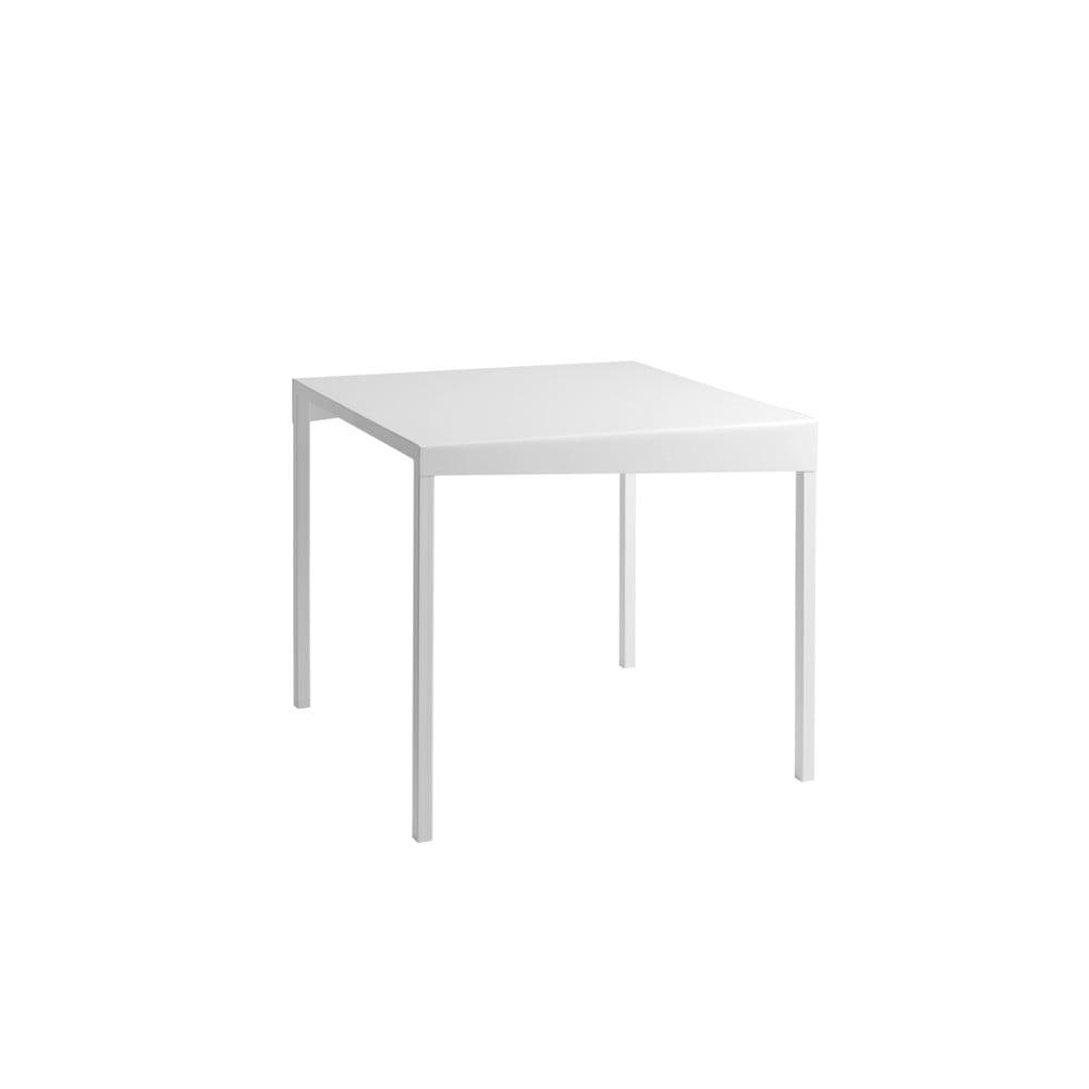 Bílý kovový jídelní stůl Custom Form Obroos, 80 x 80 cm