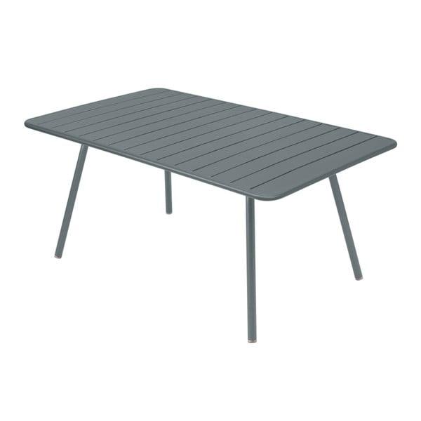 Tmavě šedý kovový jídelní stůl Fermob Luxembourg