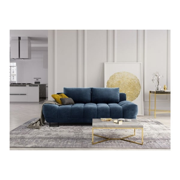 Modrá třímístná rozkládací pohovka Windsor & Co Sofas Cumulus
