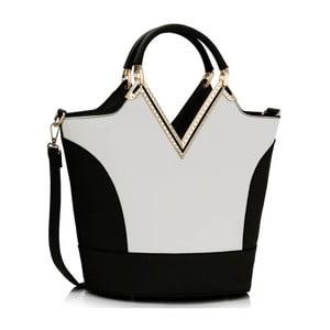 Kabelka L&S Vanity Black & White