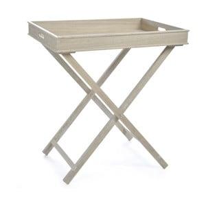 Odkládací stolek Butlertray Natural, 71x51x77 cm