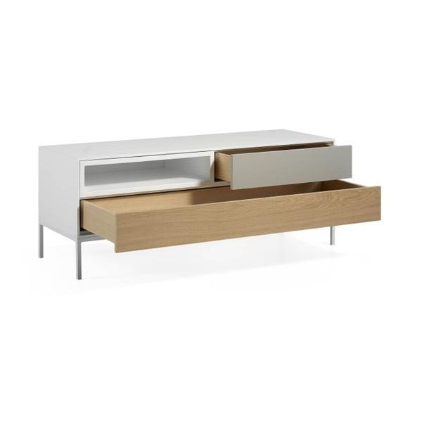 TV stolek z dubového dřeva Ángel Cerdá Livigno, 120 x 45 cm