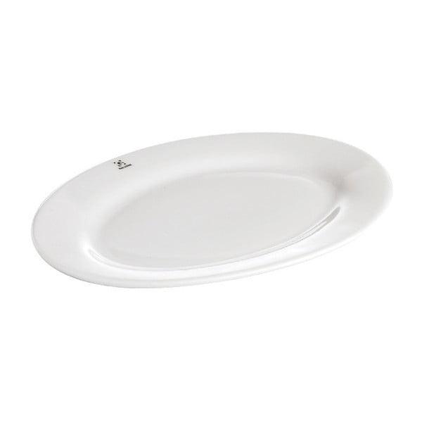 Porcelánový servírovací tác Galzone Bianco, 21,5x30cm