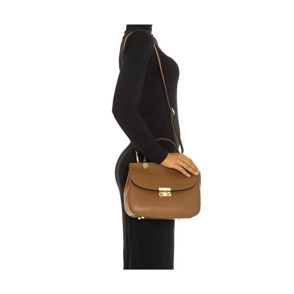 Koňakově hnědá kožená kabelka Isabella Rhea Claudia