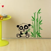 Samolepka Panda a bambus, 100x90 cm