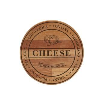 Tocător din lemn de fag Bisetti Broad Cheese, ø 30 cm