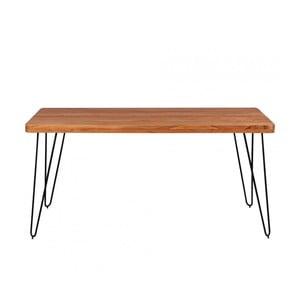 Jídelní stůl z masivního akáciového dřeva Skyport BAGLI, 160 x 80 cm
