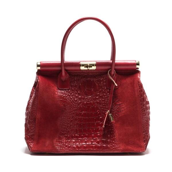 Kožená kabelka Anna Luchini 825 Red