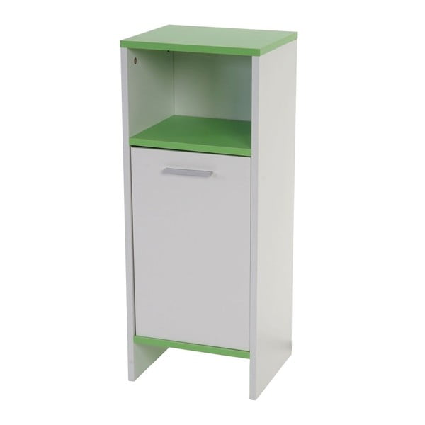 Koupelnová skříňka Sonoma White/Green, 28x32x82 cm