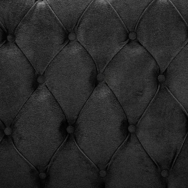 Tmavě šedá postel s černými nohami Vivonita Allon, 180x200cm