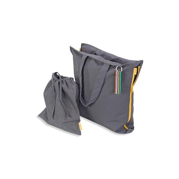 Skládací sedák Hhooboz 100x50 cm, šedý